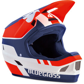 bluegrass Legit Fietshelm, white/red/blue